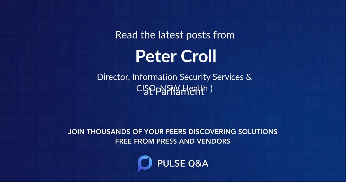 Peter Croll
