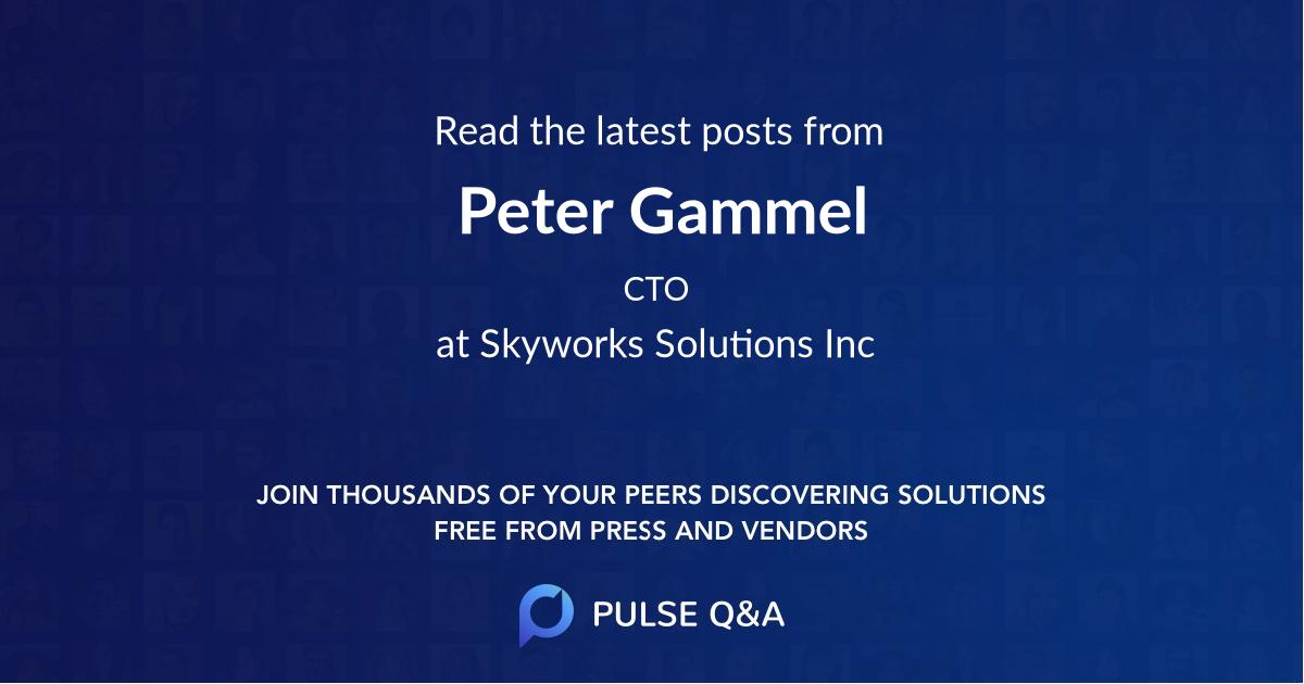 Peter Gammel