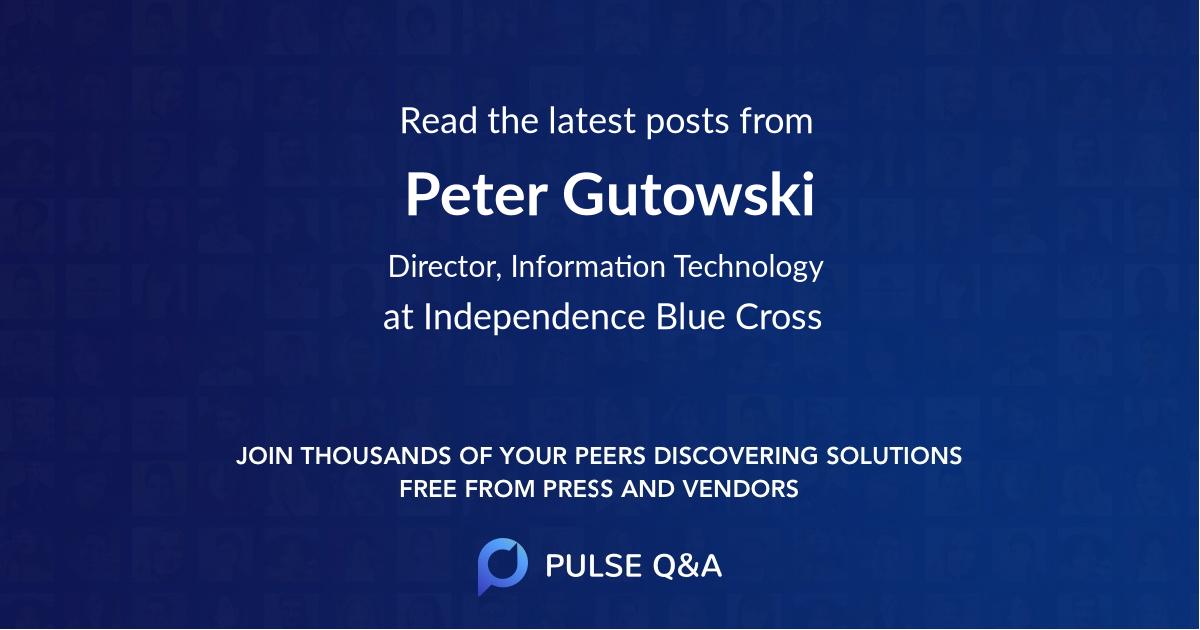 Peter Gutowski