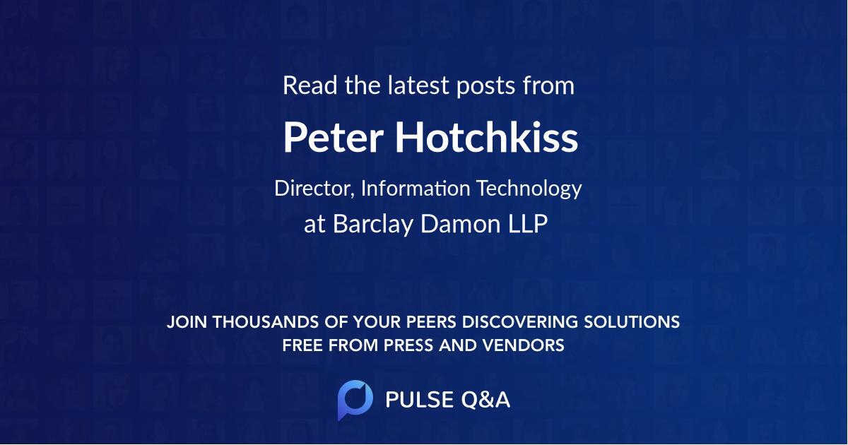 Peter Hotchkiss