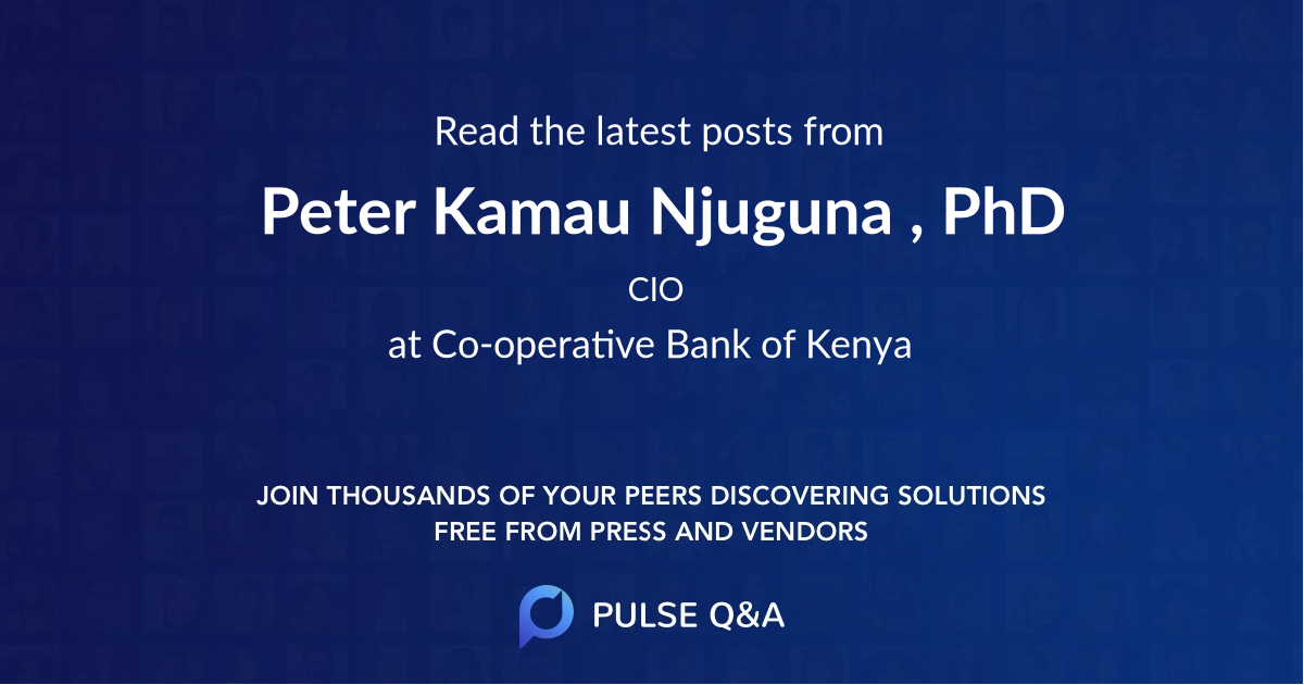 Peter Kamau Njuguna , Ph.D.