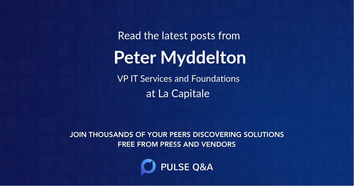 Peter Myddelton