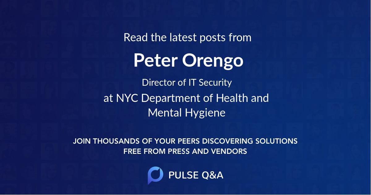 Peter Orengo