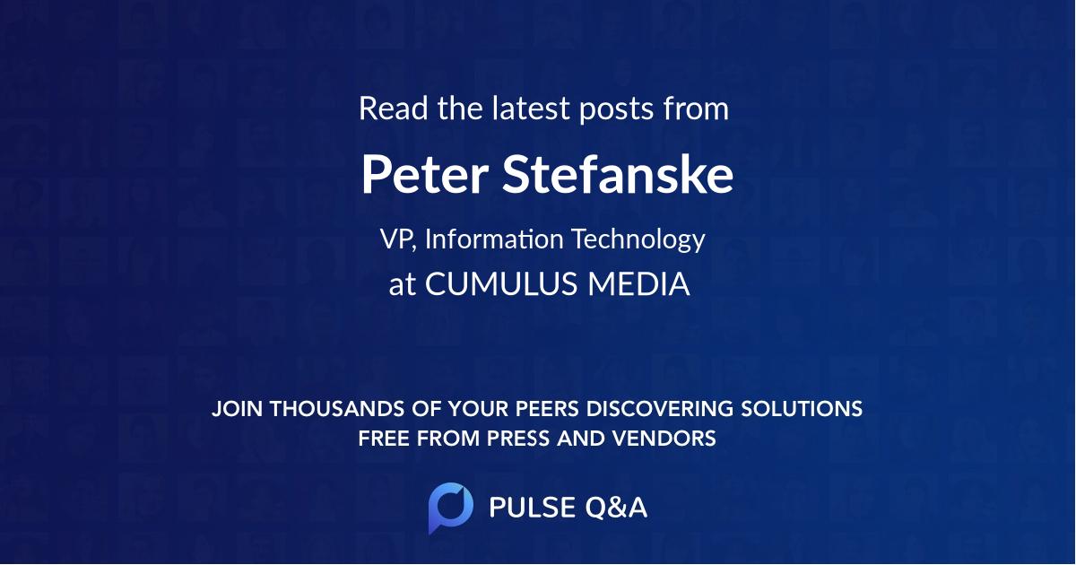 Peter Stefanske