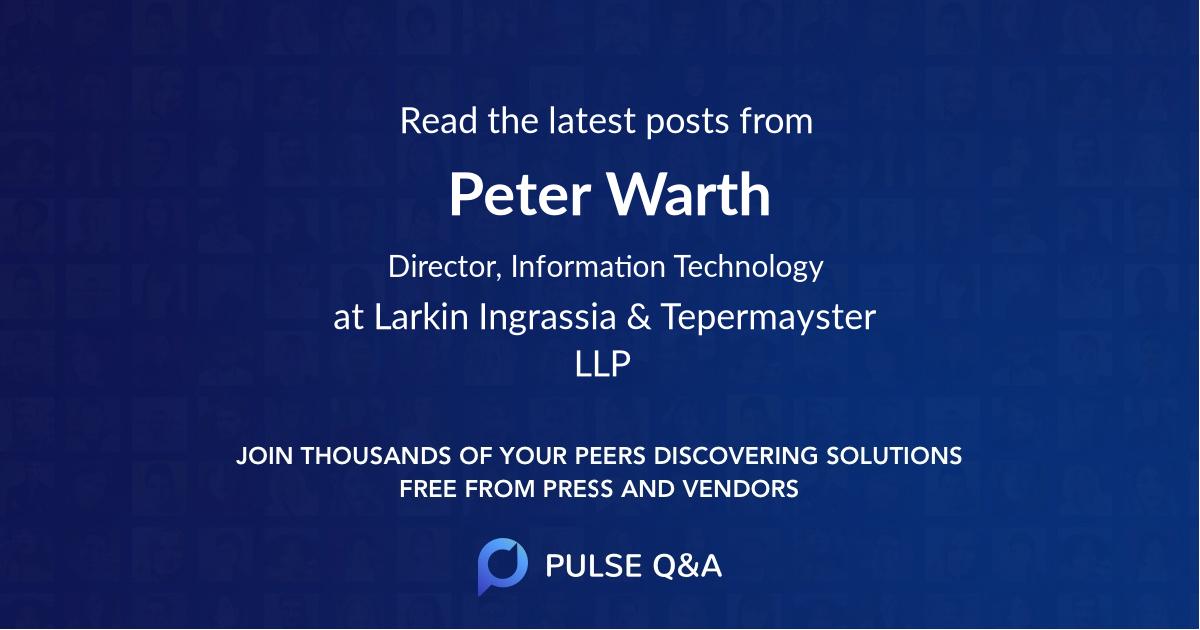 Peter Warth