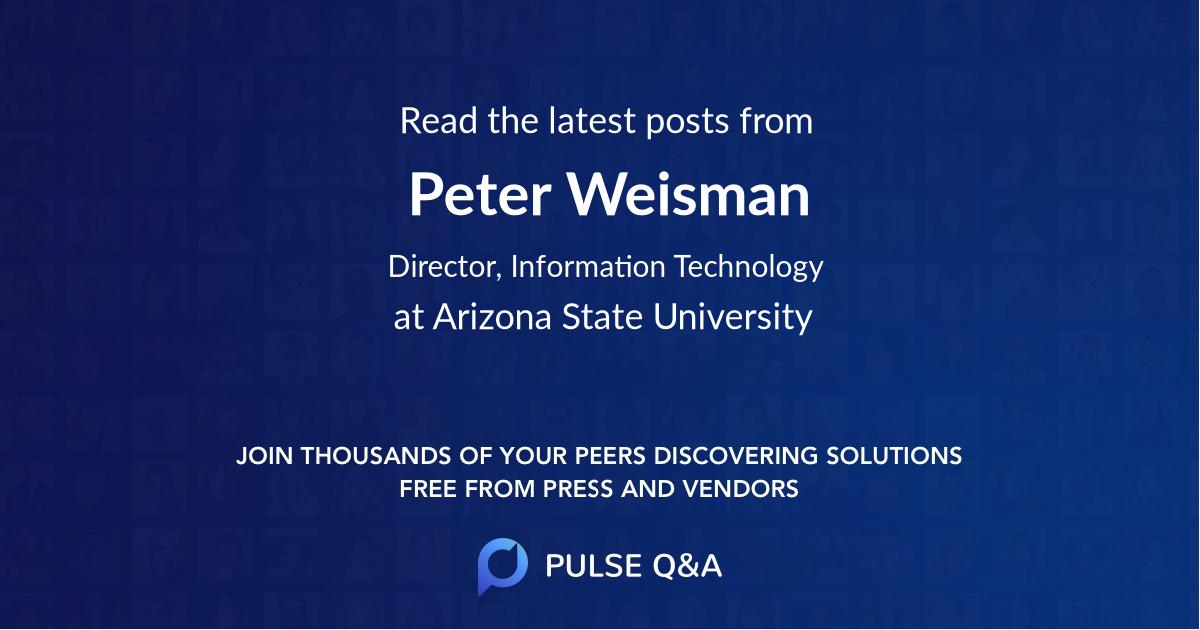 Peter Weisman