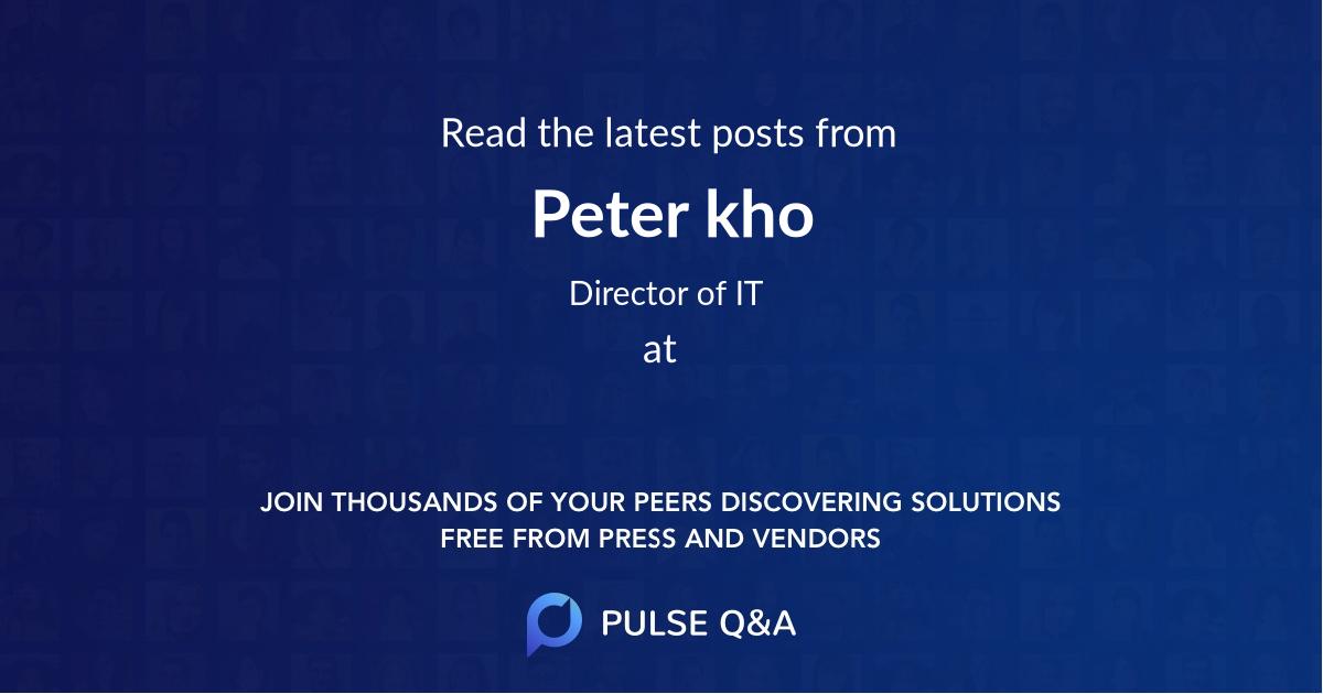 Peter kho