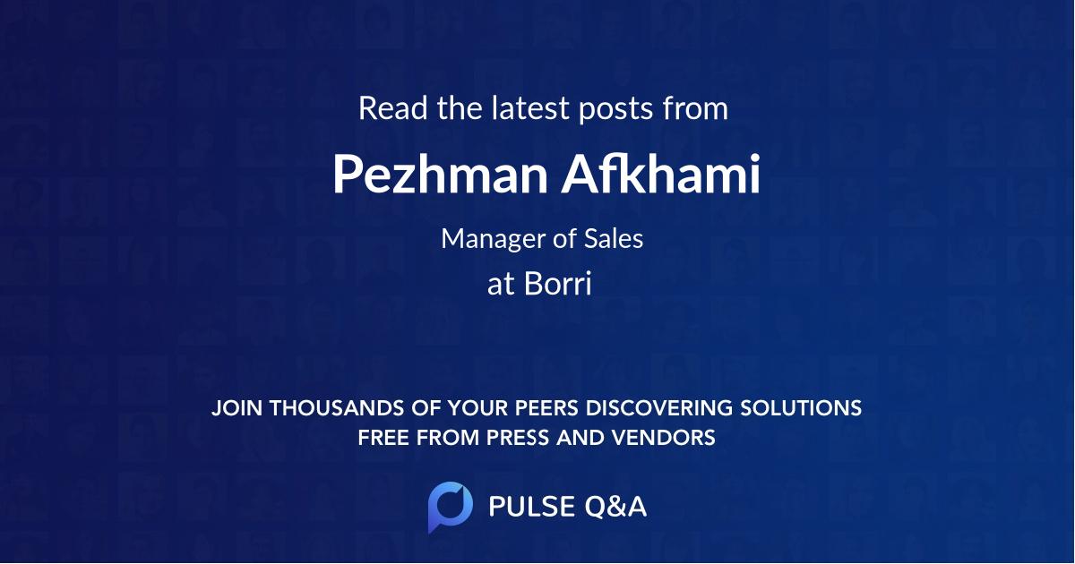 Pezhman Afkhami