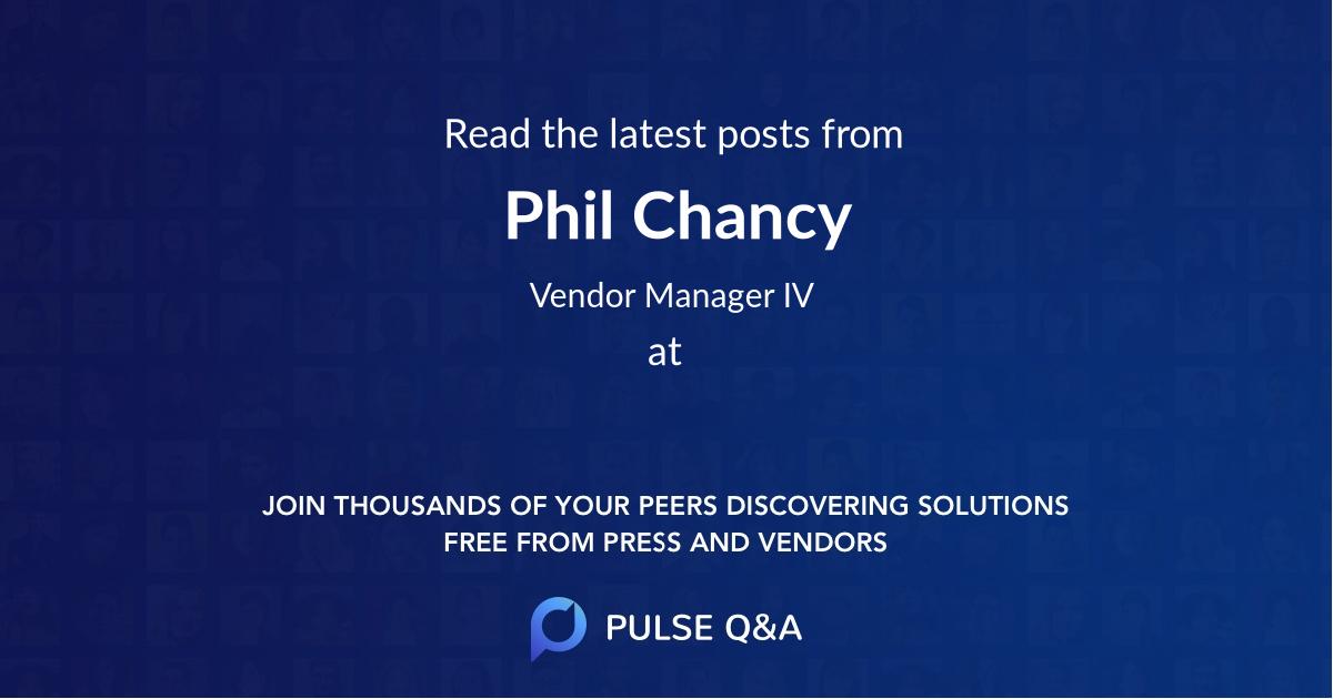 Phil Chancy