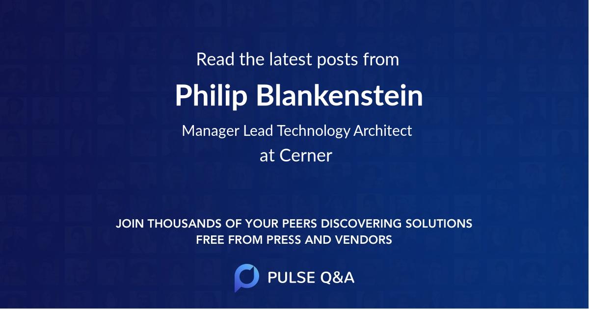 Philip Blankenstein