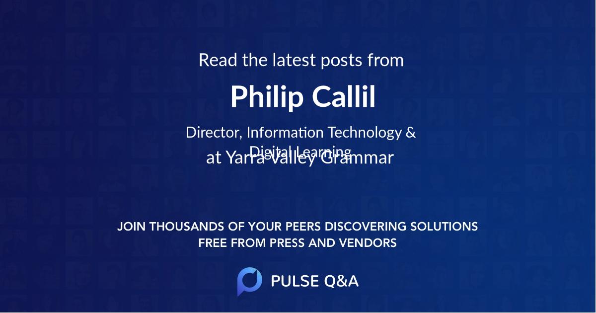 Philip Callil