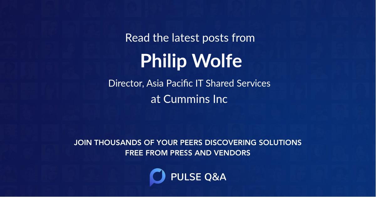 Philip Wolfe