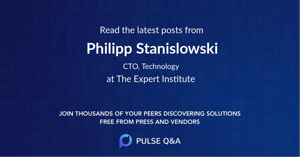 Philipp Stanislowski
