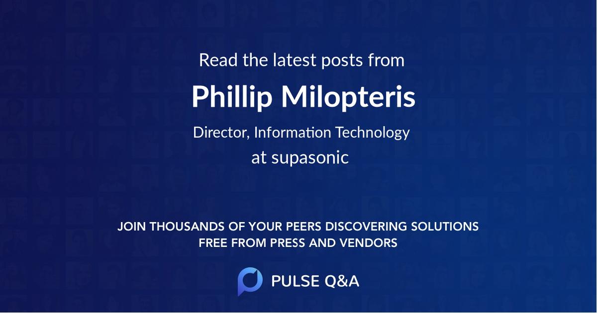 Phillip Milopteris