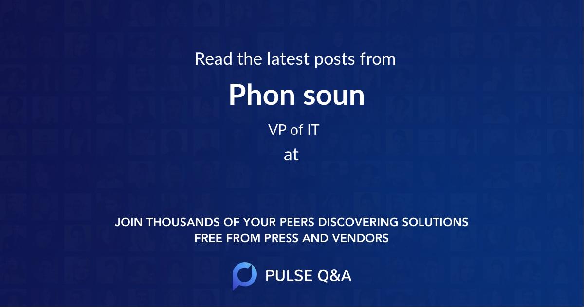 Phon soun