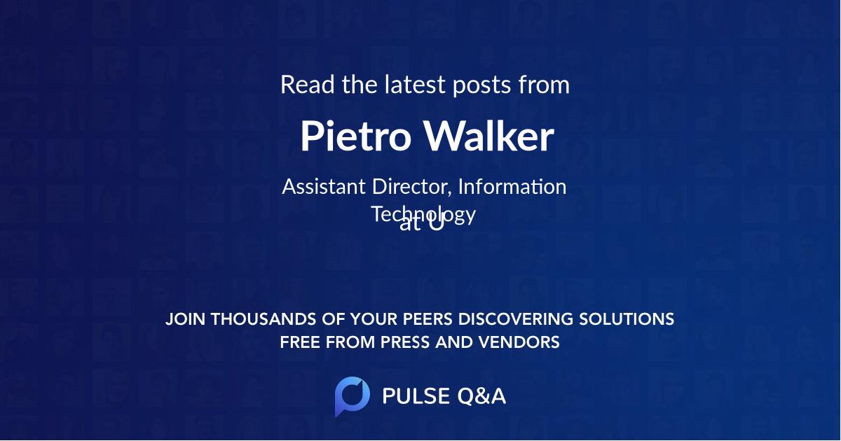 Pietro Walker