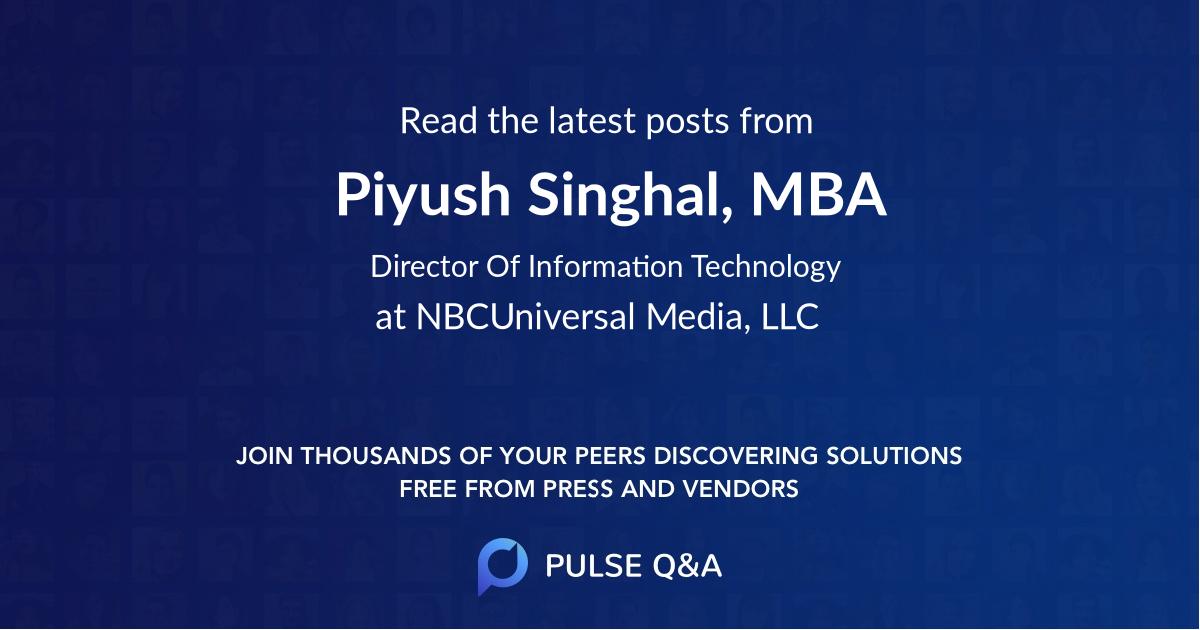 Piyush Singhal, MBA