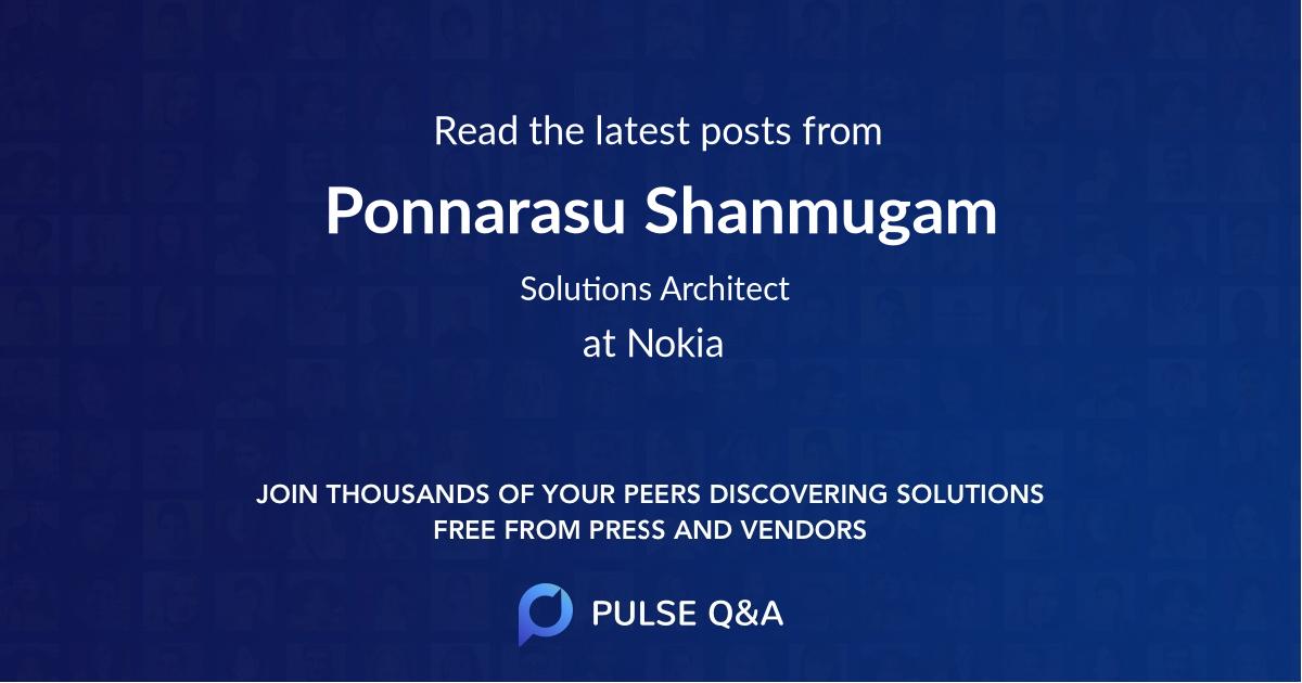 Ponnarasu Shanmugam