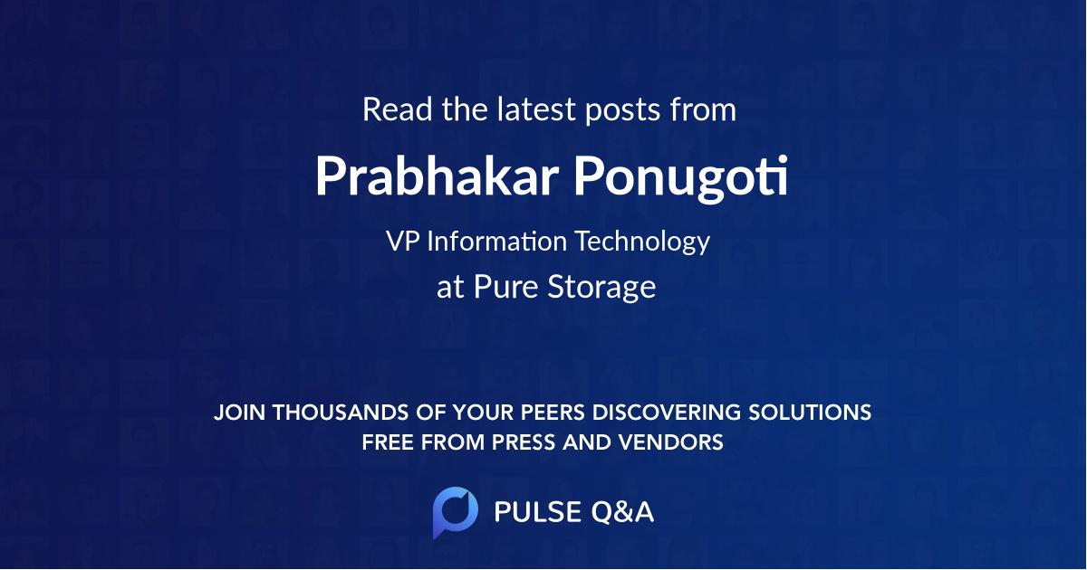 Prabhakar Ponugoti