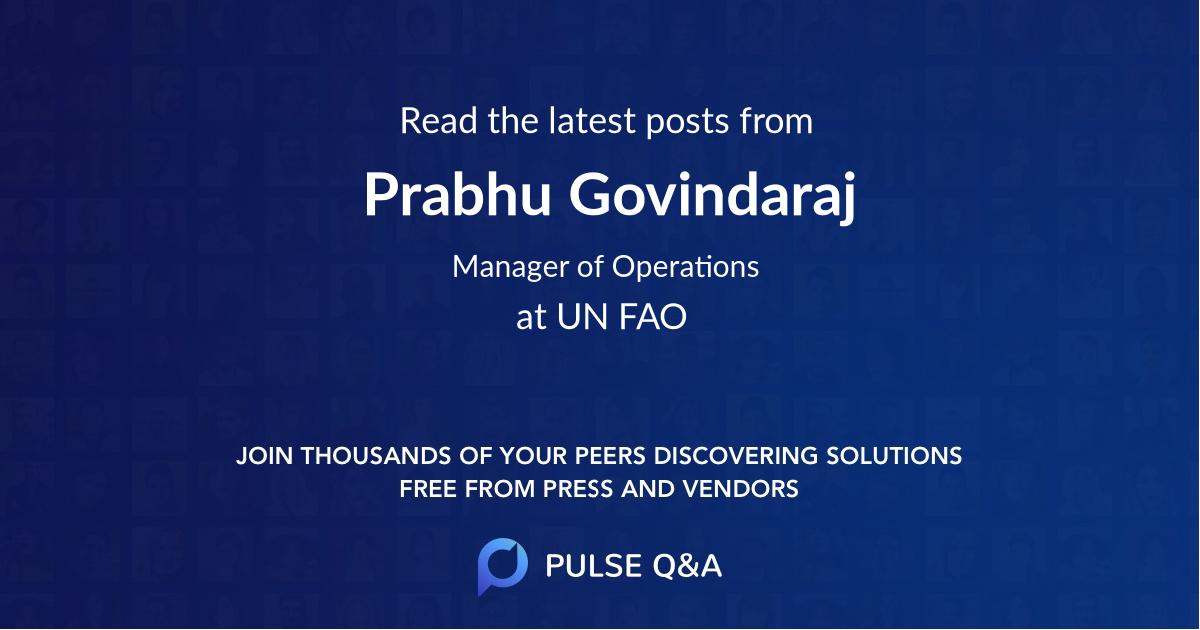 Prabhu Govindaraj