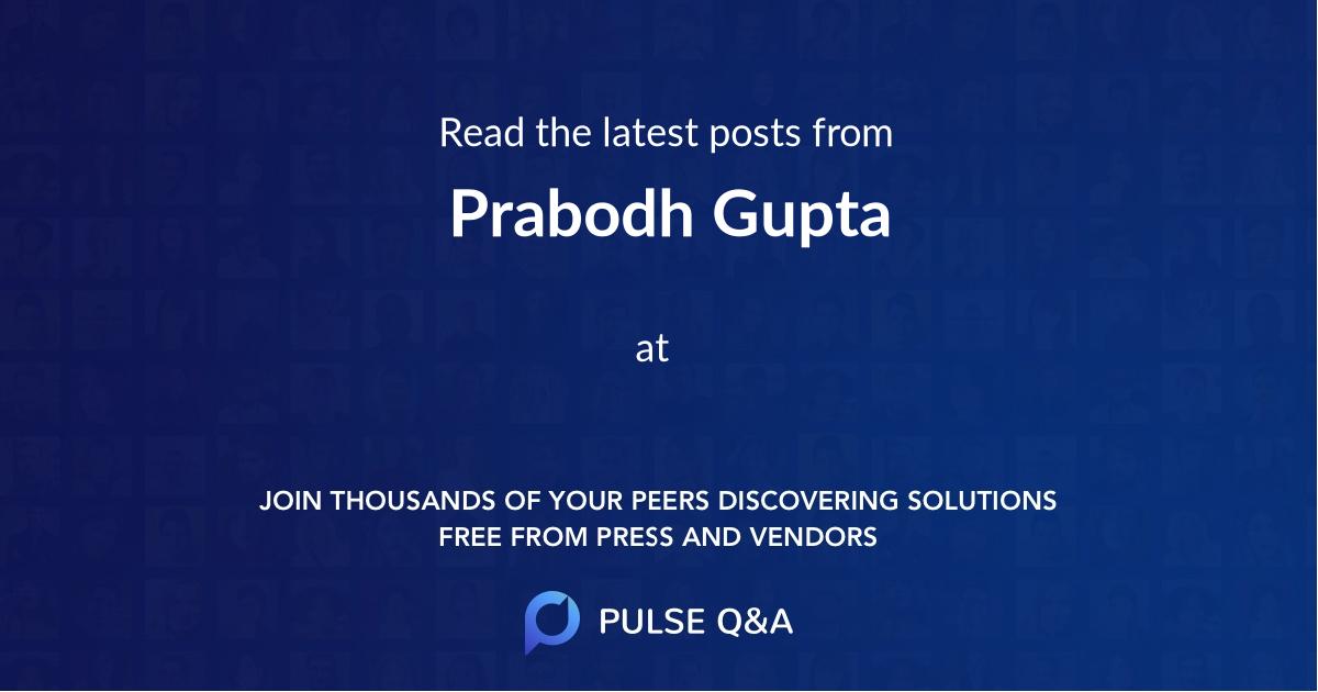 Prabodh Gupta