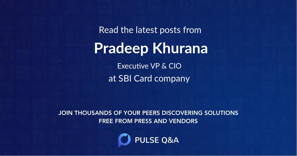 Pradeep Khurana