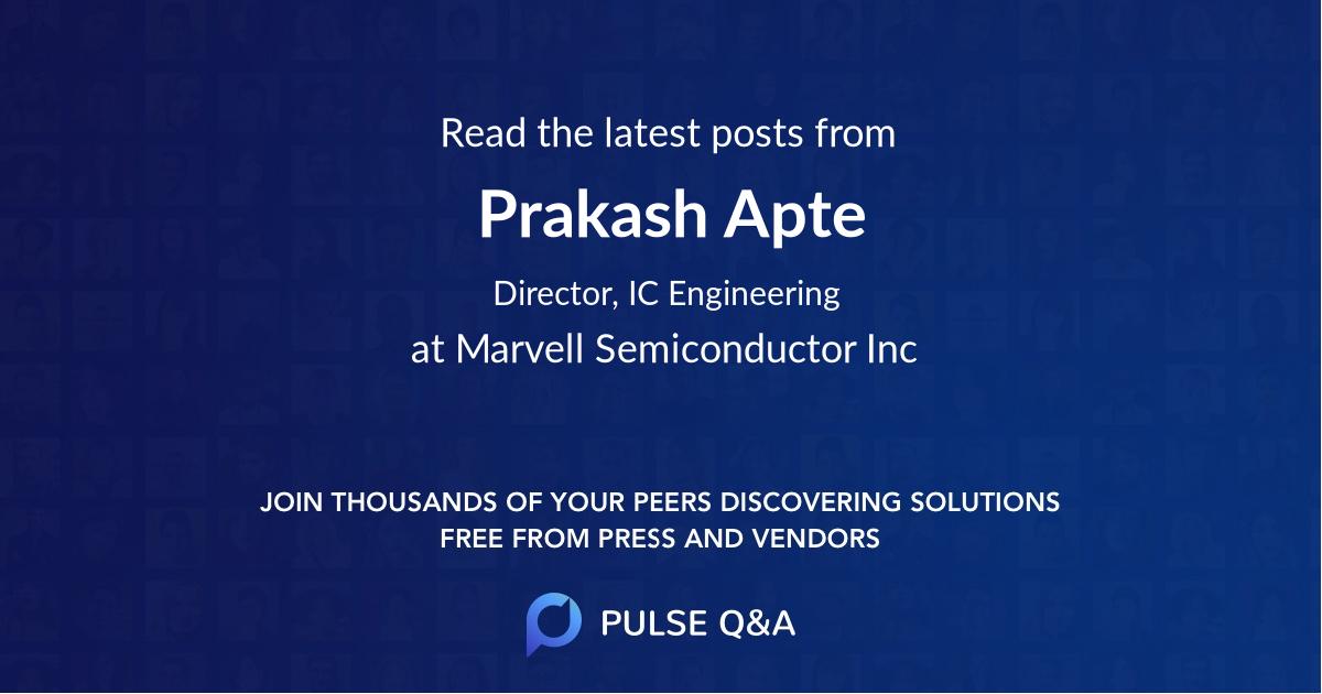 Prakash Apte