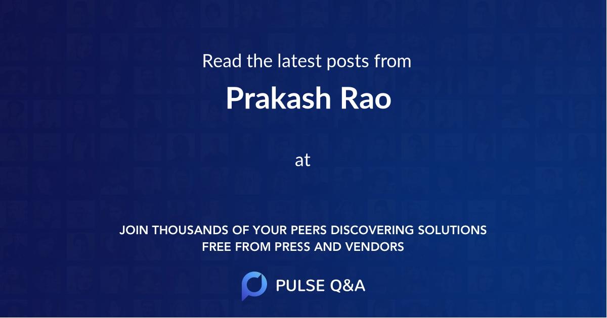 Prakash Rao