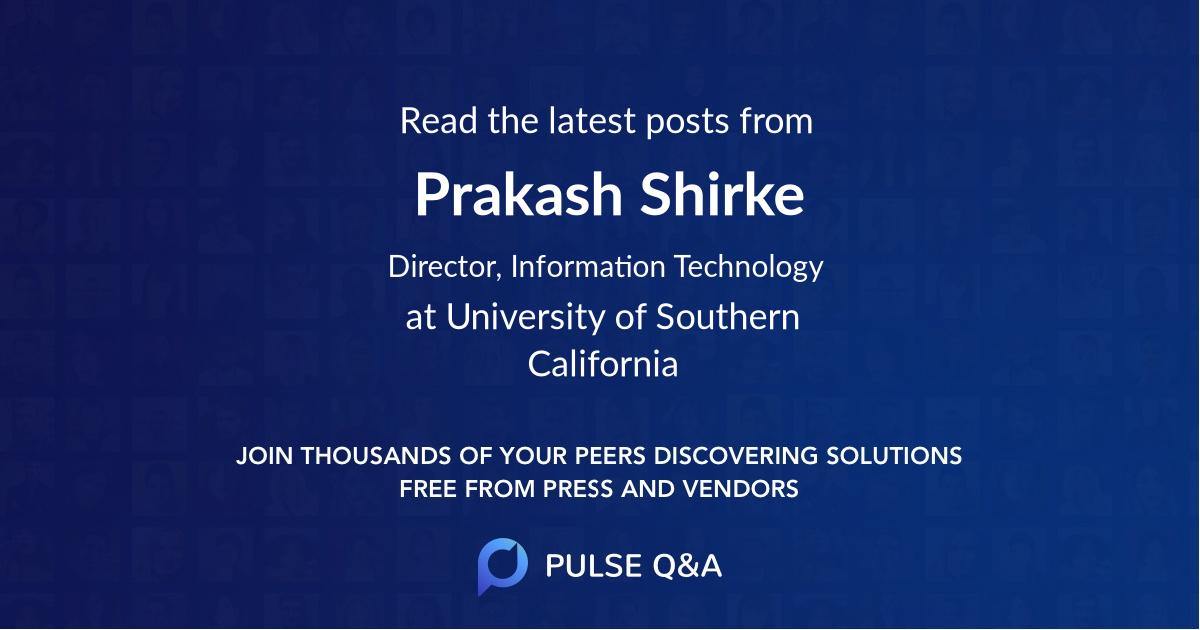 Prakash Shirke