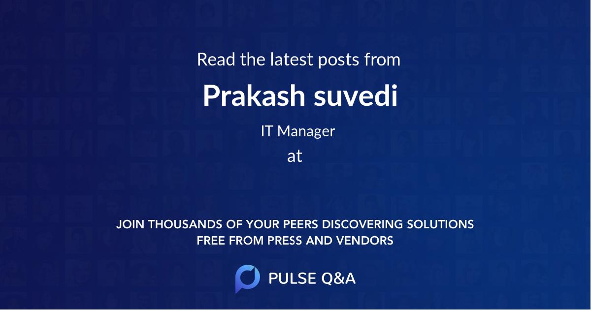 Prakash suvedi