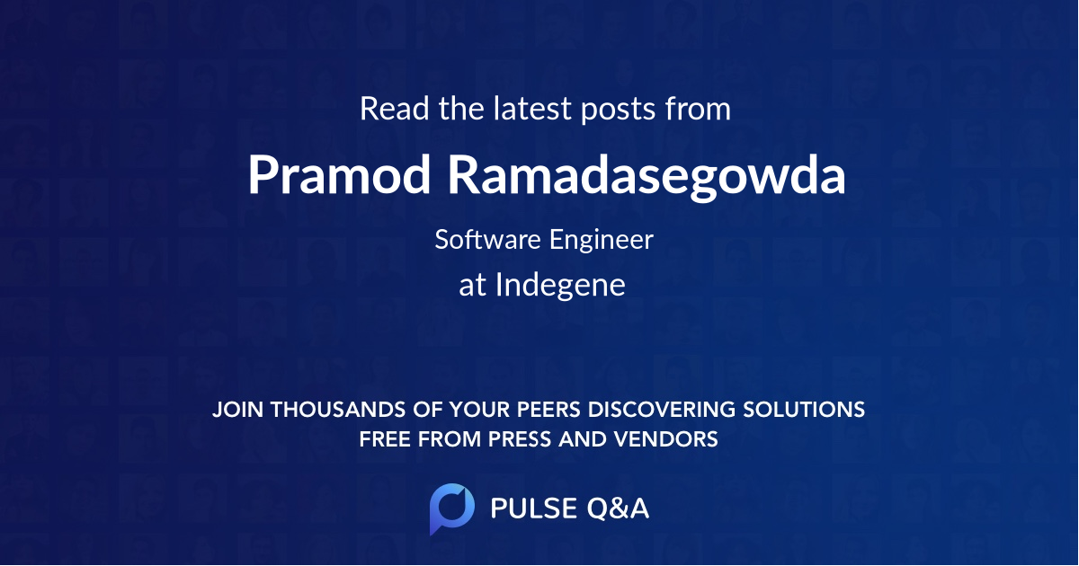 Pramod Ramadasegowda