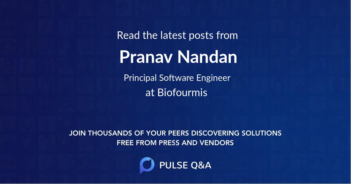 Pranav Nandan