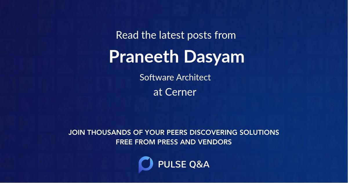 Praneeth Dasyam