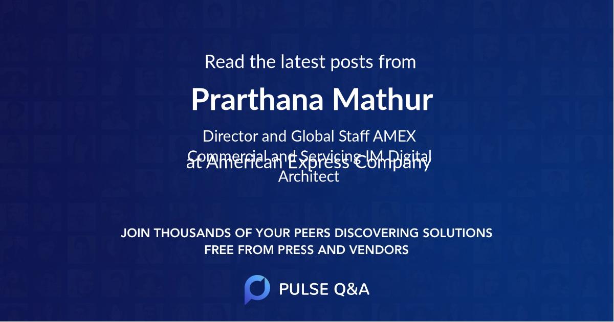 Prarthana Mathur