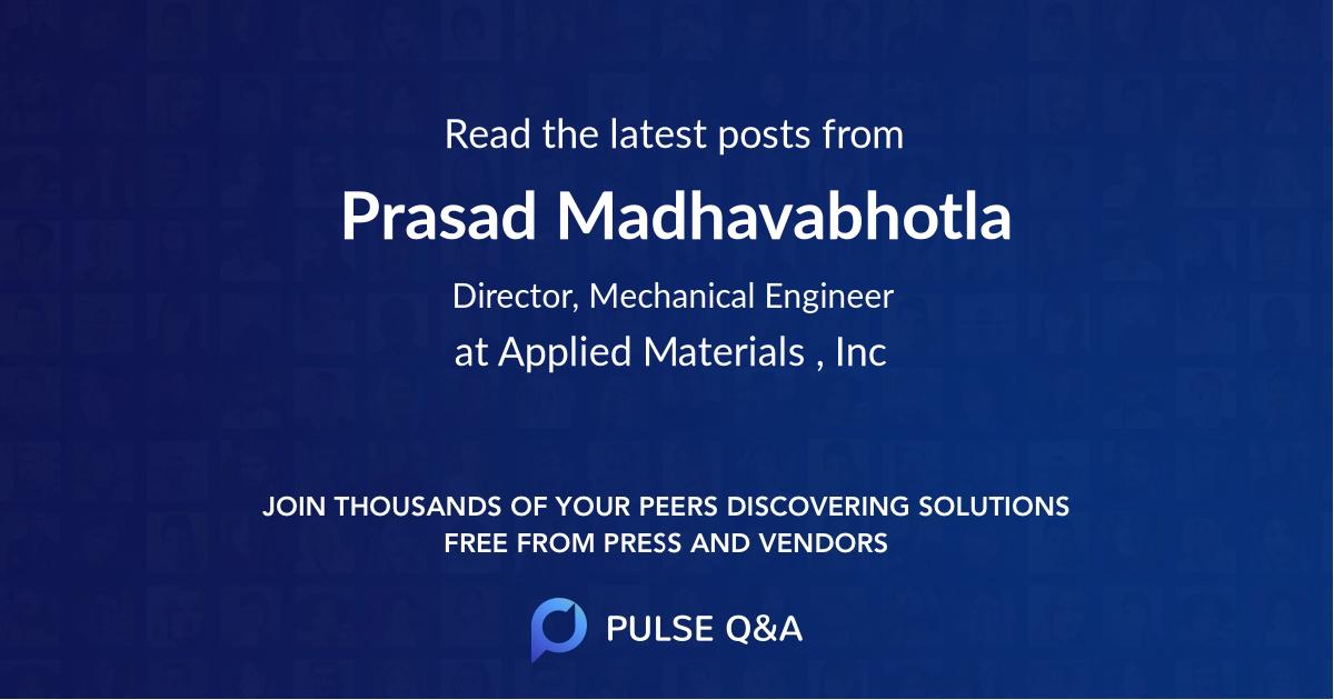 Prasad Madhavabhotla