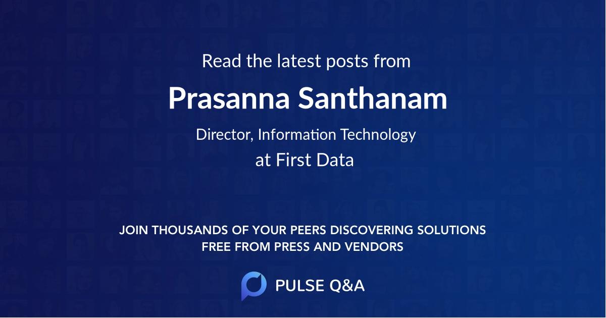 Prasanna Santhanam