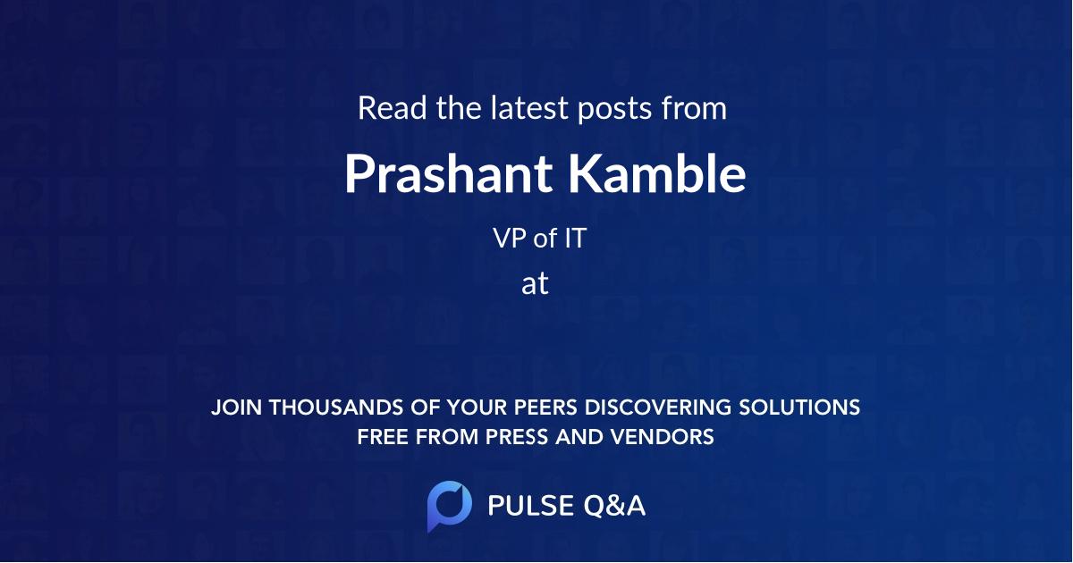 Prashant Kamble