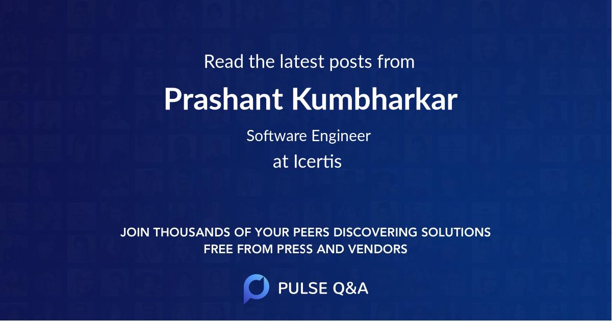 Prashant Kumbharkar
