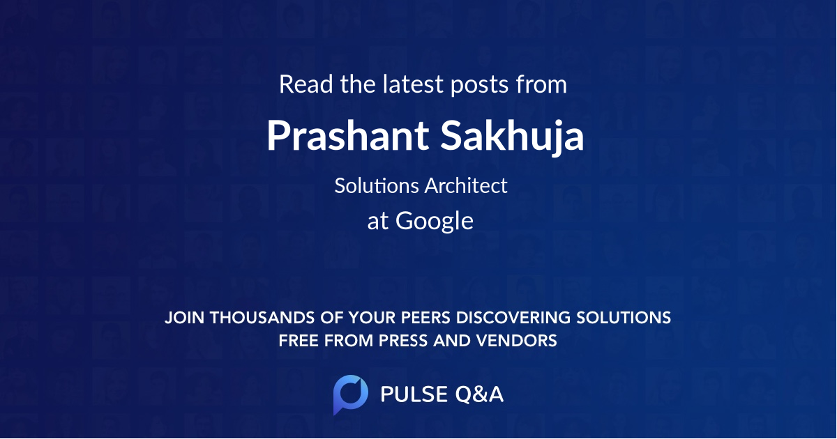 Prashant Sakhuja