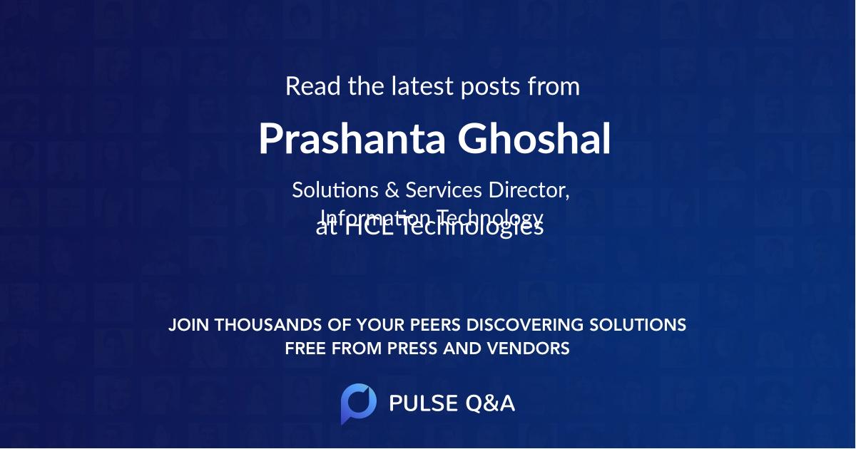 Prashanta Ghoshal