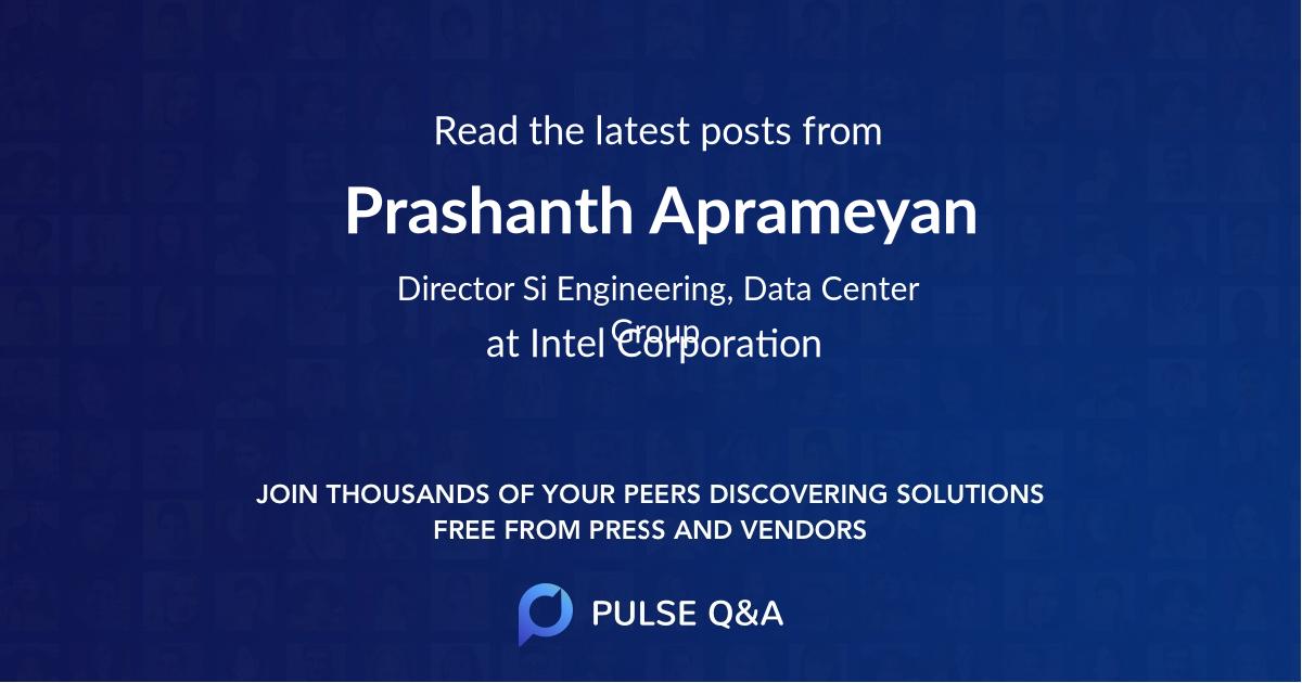 Prashanth Aprameyan