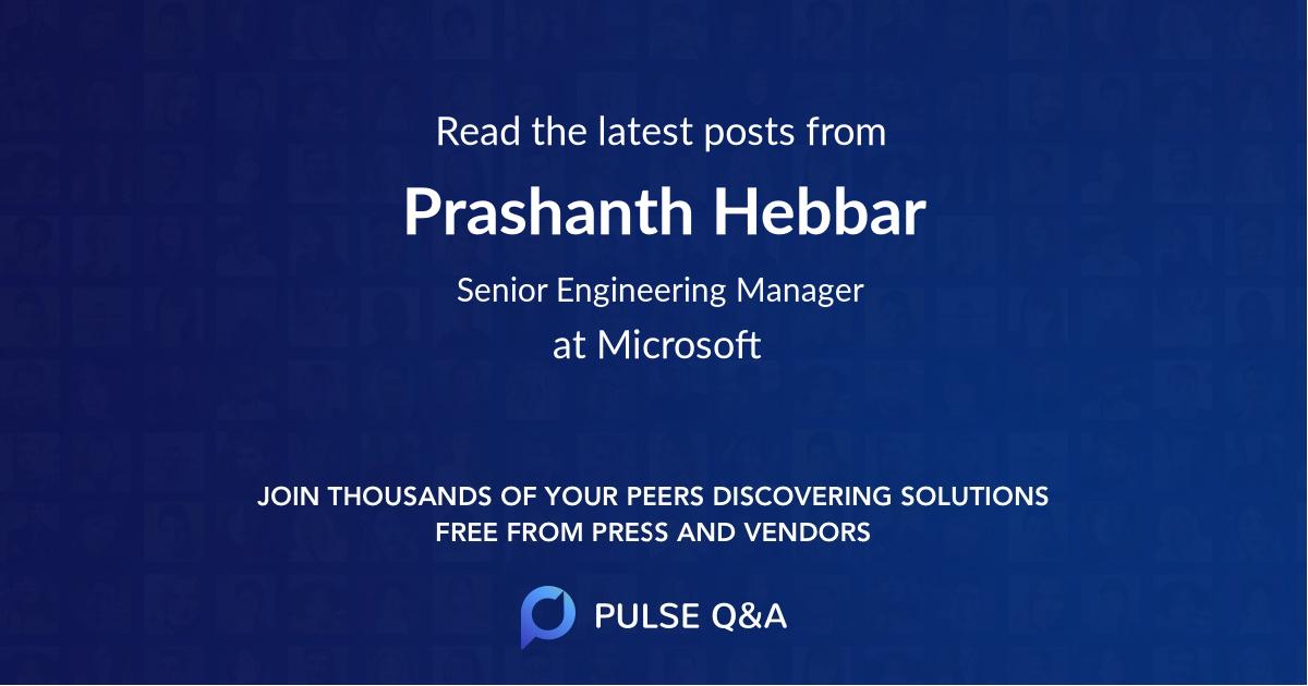 Prashanth Hebbar