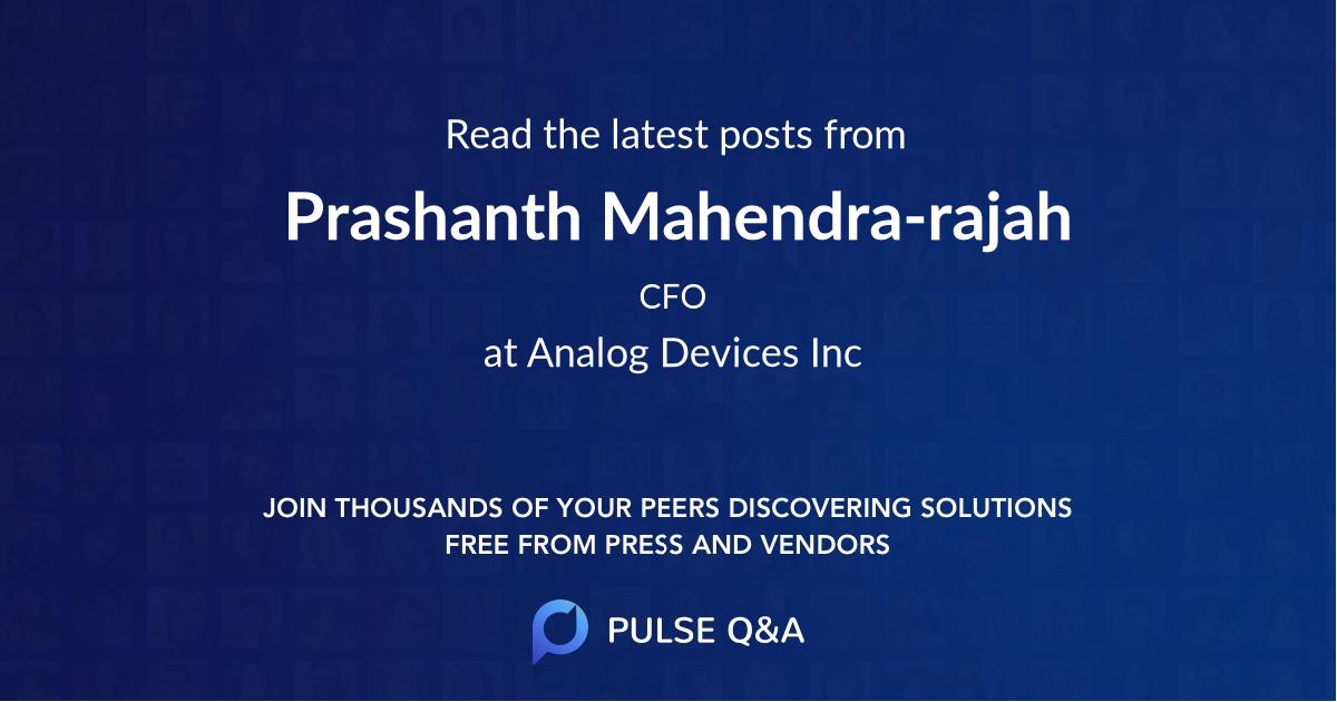Prashanth Mahendra-rajah