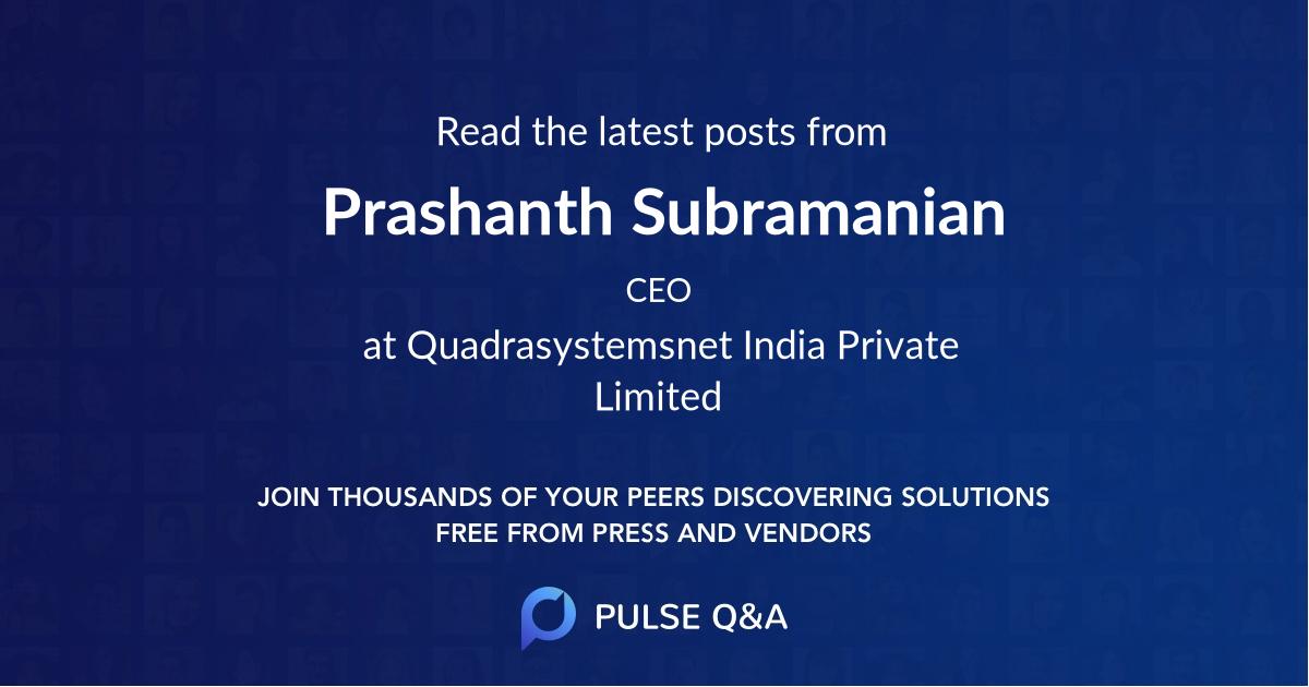 Prashanth Subramanian