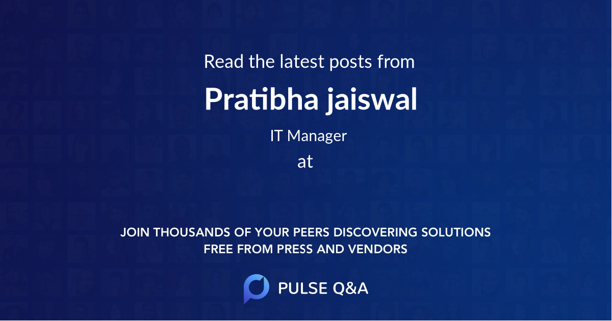 Pratibha jaiswal