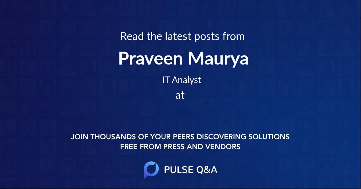Praveen Maurya