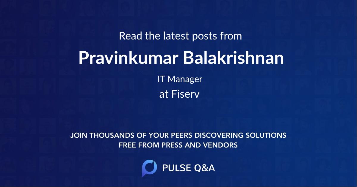 Pravinkumar Balakrishnan
