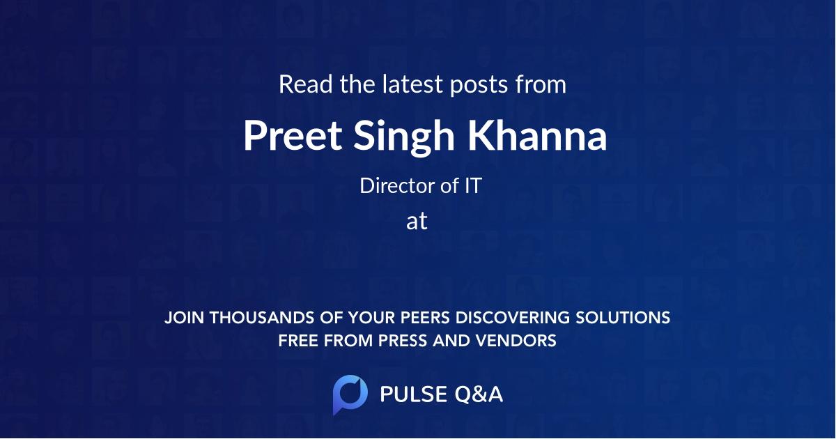 Preet Singh Khanna