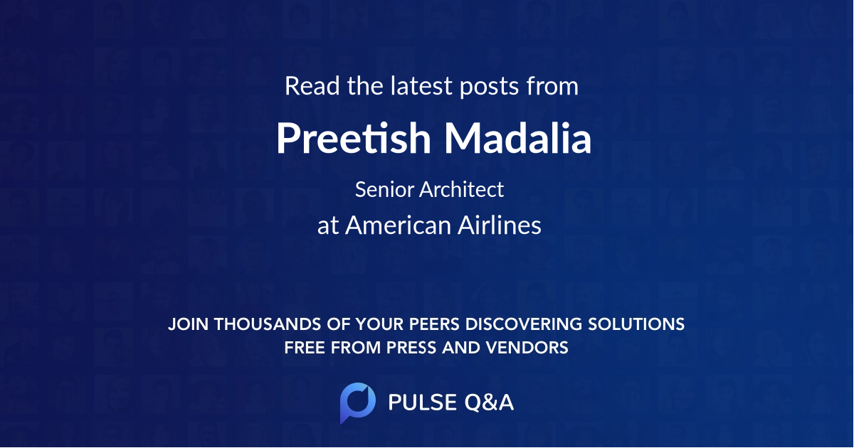Preetish Madalia