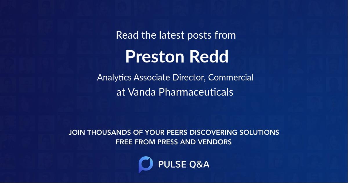 Preston Redd